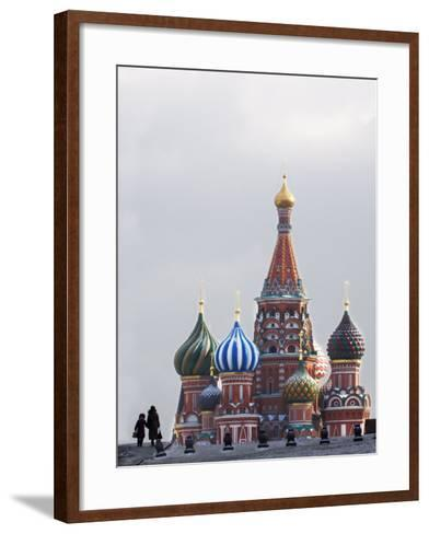 St. Basils Cathedral in the Evening, Red Square, UNESCO World Heritage Site, Moscow, Russia, Europe-Lawrence Graham-Framed Art Print