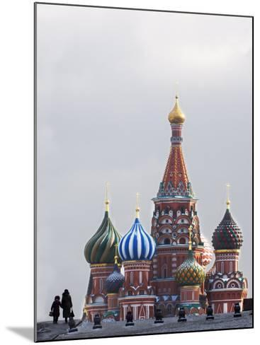 St. Basils Cathedral in the Evening, Red Square, UNESCO World Heritage Site, Moscow, Russia, Europe-Lawrence Graham-Mounted Photographic Print