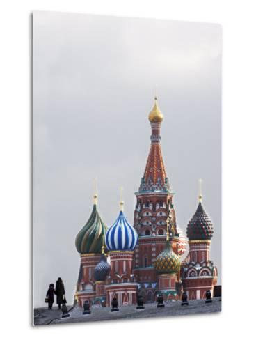 St. Basils Cathedral in the Evening, Red Square, UNESCO World Heritage Site, Moscow, Russia, Europe-Lawrence Graham-Metal Print