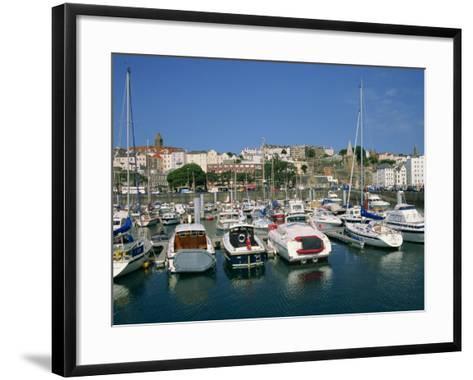 Marina at St. Peter Port, Guernsey, Channel Islands, United Kingdom, Europe-Lightfoot Jeremy-Framed Art Print