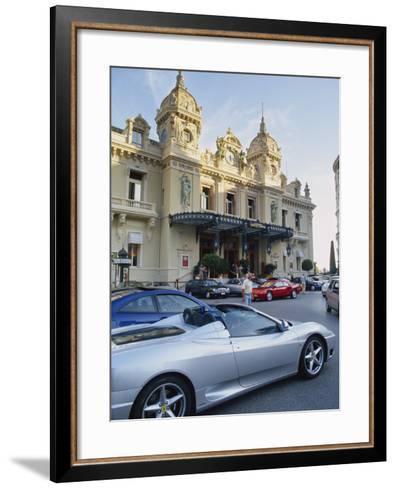 Casino and Ferrari, Monte Carlo, Monaco, Europe-Miller John-Framed Art Print