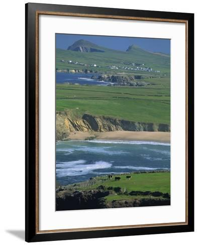 Aerial View over the Dingle Peninsula, County Kerry, Munster, Republic of Ireland, Europe-Maxwell Duncan-Framed Art Print