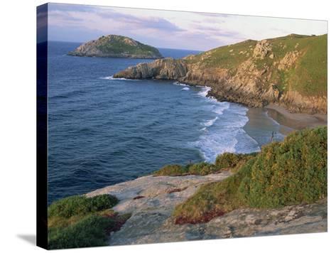 Rocky Coastline and Beach Near Punt De Moras on the North Coast, Rias Altas in Galicia, Spain-Maxwell Duncan-Stretched Canvas Print