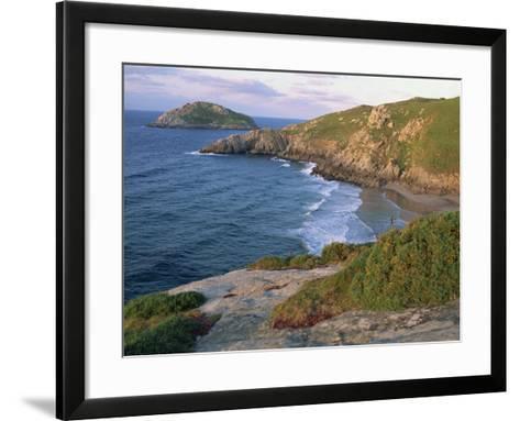 Rocky Coastline and Beach Near Punt De Moras on the North Coast, Rias Altas in Galicia, Spain-Maxwell Duncan-Framed Art Print