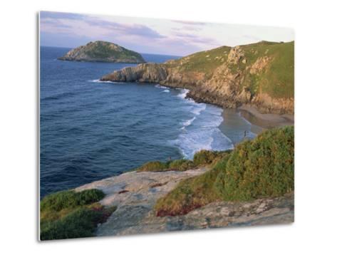 Rocky Coastline and Beach Near Punt De Moras on the North Coast, Rias Altas in Galicia, Spain-Maxwell Duncan-Metal Print