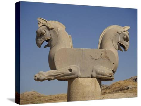 Double-Headed Eagle, Persepolis, UNESCO World Heritage Site, Iran, Middle East-Poole David-Stretched Canvas Print