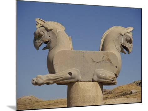 Double-Headed Eagle, Persepolis, UNESCO World Heritage Site, Iran, Middle East-Poole David-Mounted Photographic Print