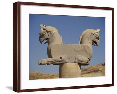 Double-Headed Eagle, Persepolis, UNESCO World Heritage Site, Iran, Middle East-Poole David-Framed Art Print