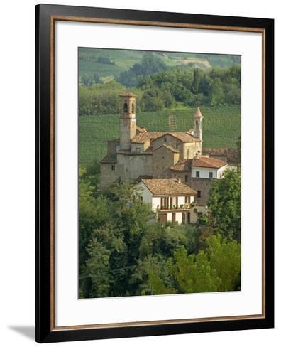 Tenuta La Volta, an Old Fortified Wine Cantina, Near Barolo, Piedmont, Italy, Europe-Newton Michael-Framed Art Print