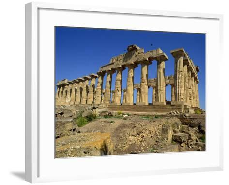 Ruins of the Greek Temples at Selinunte on the Island of Sicily, Italy, Europe-Newton Michael-Framed Art Print