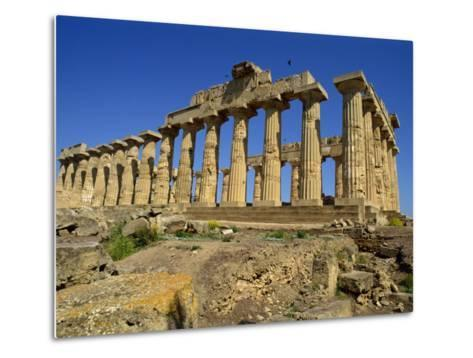 Ruins of the Greek Temples at Selinunte on the Island of Sicily, Italy, Europe-Newton Michael-Metal Print