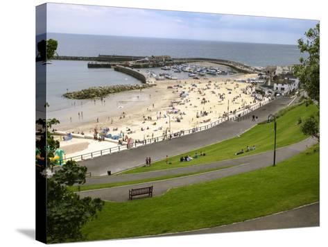 Cobb and Beach at Lyme Regis, Dorset, England, United Kingdom, Europe-Rainford Roy-Stretched Canvas Print