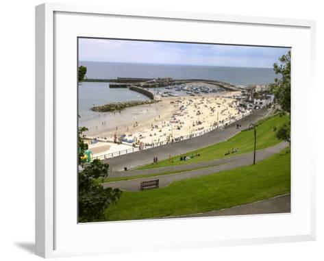 Cobb and Beach at Lyme Regis, Dorset, England, United Kingdom, Europe-Rainford Roy-Framed Art Print