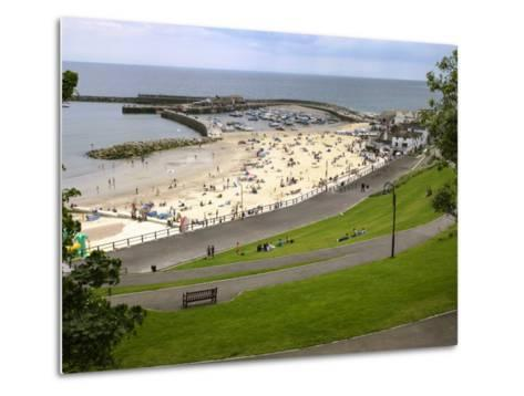 Cobb and Beach at Lyme Regis, Dorset, England, United Kingdom, Europe-Rainford Roy-Metal Print
