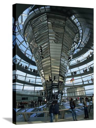 Interior of Reichstag Building, Designed by Norman Foster, Berlin, Germany, Europe-Morandi Bruno-Stretched Canvas Print