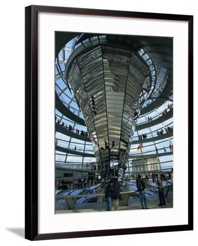 Interior of Reichstag Building, Designed by Norman Foster, Berlin, Germany, Europe-Morandi Bruno-Framed Art Print