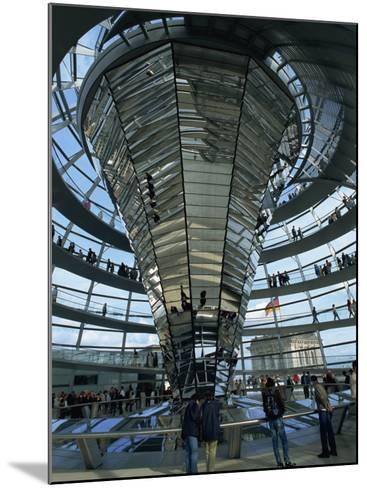 Interior of Reichstag Building, Designed by Norman Foster, Berlin, Germany, Europe-Morandi Bruno-Mounted Photographic Print