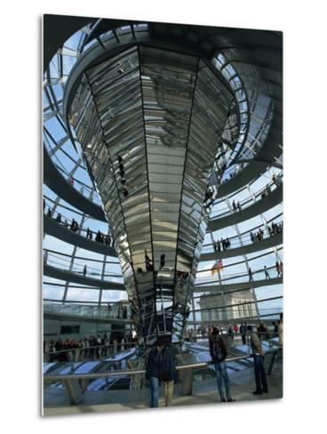 Interior of Reichstag Building, Designed by Norman Foster, Berlin, Germany, Europe-Morandi Bruno-Metal Print