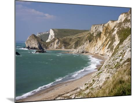 St. Oswald's Bay Beach and Cliffs, Dorset, England, United Kingdom, Europe-Rainford Roy-Mounted Photographic Print
