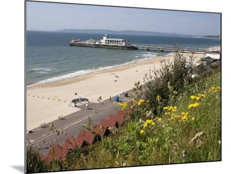 Bournemouth Pier and Beach, Poole Bay, Dorset, England, United Kingdom, Europe-Rainford Roy-Mounted Photographic Print