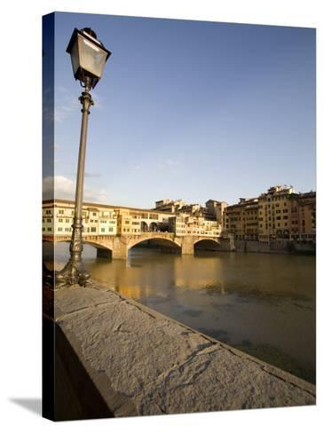 Along the Arno River and the Ponte Vecchio, Florence, Tuscany, Italy, Europe-Olivieri Oliviero-Stretched Canvas Print