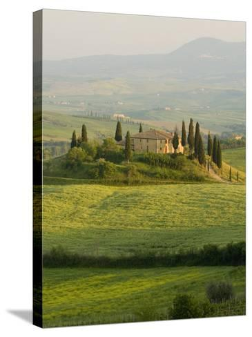 Country House, Il Belvedere, San Quirico D'Orcia, Val D'Orcia, Siena Province, Tuscany, Italy-Pitamitz Sergio-Stretched Canvas Print