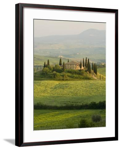 Country House, Il Belvedere, San Quirico D'Orcia, Val D'Orcia, Siena Province, Tuscany, Italy-Pitamitz Sergio-Framed Art Print