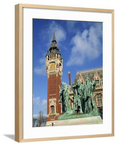 Monument to the Burghers of Calais by Rodin, Nord Pas De Calais, France-Rainford Roy-Framed Art Print