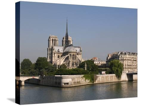 River Seine and Notre Dame Cathedral, Paris, France, Europe-Pitamitz Sergio-Stretched Canvas Print