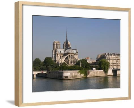 River Seine and Notre Dame Cathedral, Paris, France, Europe-Pitamitz Sergio-Framed Art Print