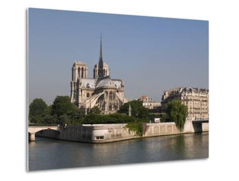 River Seine and Notre Dame Cathedral, Paris, France, Europe-Pitamitz Sergio-Metal Print