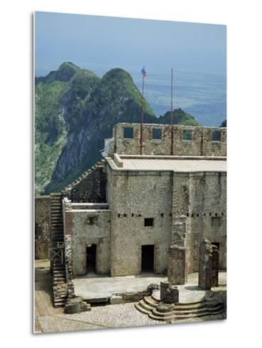 Citadelle Fort, Built in 1817, the Walls are Four Metres Thick, Milot, Haiti, West Indies-Murray Louise-Metal Print