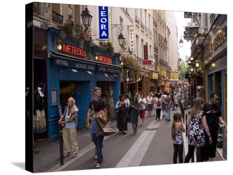 Rue De La Huchette, Quartier Latin, Paris, France, Europe-Pitamitz Sergio-Stretched Canvas Print