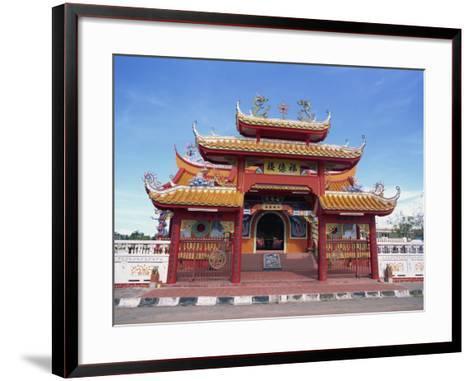 Chinese Temple in Kota Kinabalu, Sabah, Borneo, Malaysia, Southeast Asia-Murray Louise-Framed Art Print