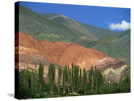 Seven Colours Mountain at Purmamaca Near Tilcara in Argentina, South America-Murray Louise-Stretched Canvas Print