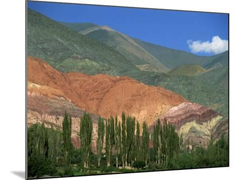 Seven Colours Mountain at Purmamaca Near Tilcara in Argentina, South America-Murray Louise-Mounted Photographic Print