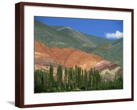 Seven Colours Mountain at Purmamaca Near Tilcara in Argentina, South America-Murray Louise-Framed Art Print
