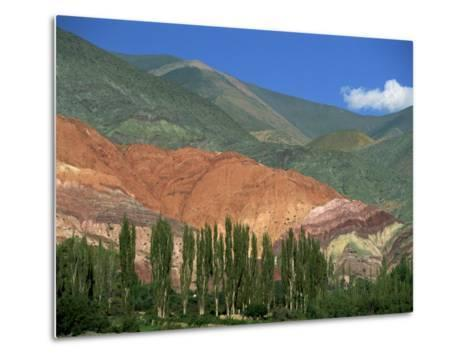 Seven Colours Mountain at Purmamaca Near Tilcara in Argentina, South America-Murray Louise-Metal Print