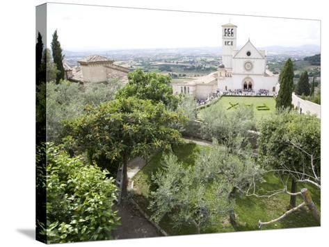 Basilica of San Francesco, and the Valley of Peace, Assisi, Umbria, Italy-Olivieri Oliviero-Stretched Canvas Print