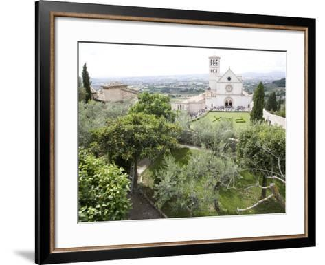 Basilica of San Francesco, and the Valley of Peace, Assisi, Umbria, Italy-Olivieri Oliviero-Framed Art Print