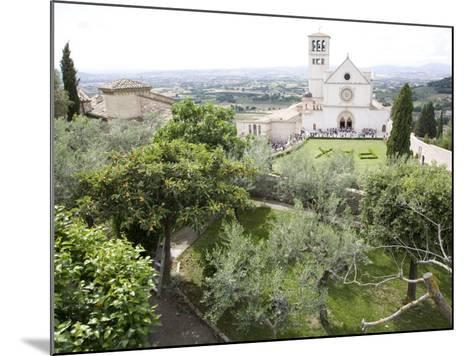 Basilica of San Francesco, and the Valley of Peace, Assisi, Umbria, Italy-Olivieri Oliviero-Mounted Photographic Print
