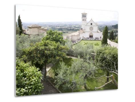 Basilica of San Francesco, and the Valley of Peace, Assisi, Umbria, Italy-Olivieri Oliviero-Metal Print