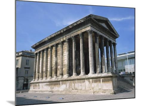 Maison Carree Temple in the Town of Nimes, in Languedoc Roussillon, France, Europe-Rainford Roy-Mounted Photographic Print