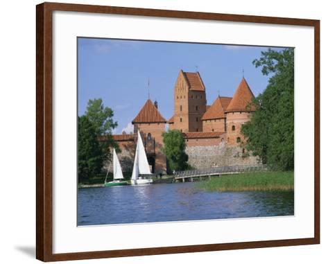 Trakai Castle in Lithuania, Baltic States, Europe-Richardson Rolf-Framed Art Print