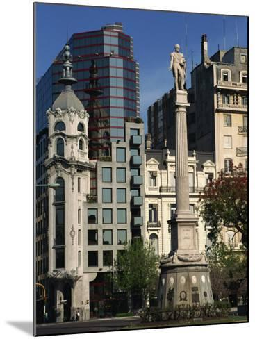 Architecture of Plaza Lavalle and Statue, Buenos Aires, Argentina, South America-Simanor Eitan-Mounted Photographic Print