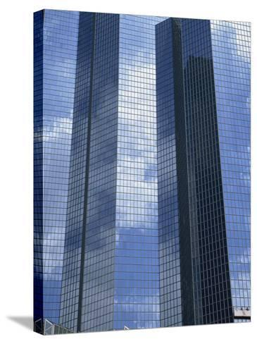 Glass Exterior of a Modern Office Building, La Defense, Paris, France, Europe-Rainford Roy-Stretched Canvas Print