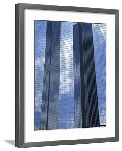 Glass Exterior of a Modern Office Building, La Defense, Paris, France, Europe-Rainford Roy-Framed Art Print