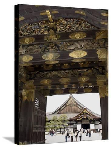 Gateway to Nijo Castle, Kyoto, Japan-Richardson Rolf-Stretched Canvas Print