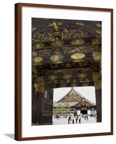 Gateway to Nijo Castle, Kyoto, Japan-Richardson Rolf-Framed Art Print