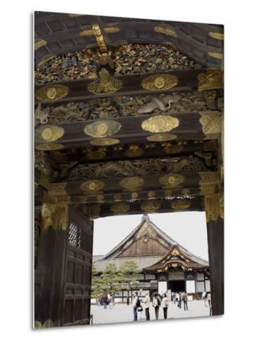 Gateway to Nijo Castle, Kyoto, Japan-Richardson Rolf-Metal Print